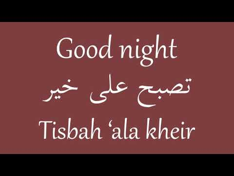 How To Say Good Night Masculine In Egyptian Arabic Egyptian Academy Youtube