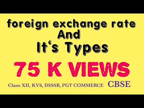 Foreign exchange rate and its types