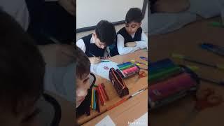 Государственные атрибуты Азербайджана. Творческий урок. Познание мира.