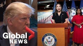 "Donald Trump: AOC, Ilhan Omar, Rashida Tlaib and Ayanna Pressley ""hate our country"""