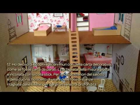 Crea un 39 adorabile casa per le bambole in cartone fai da for Casa di barbie youtube