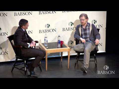 Babson College Hosts Rent Star Anthony Rapp for a Q&A Session