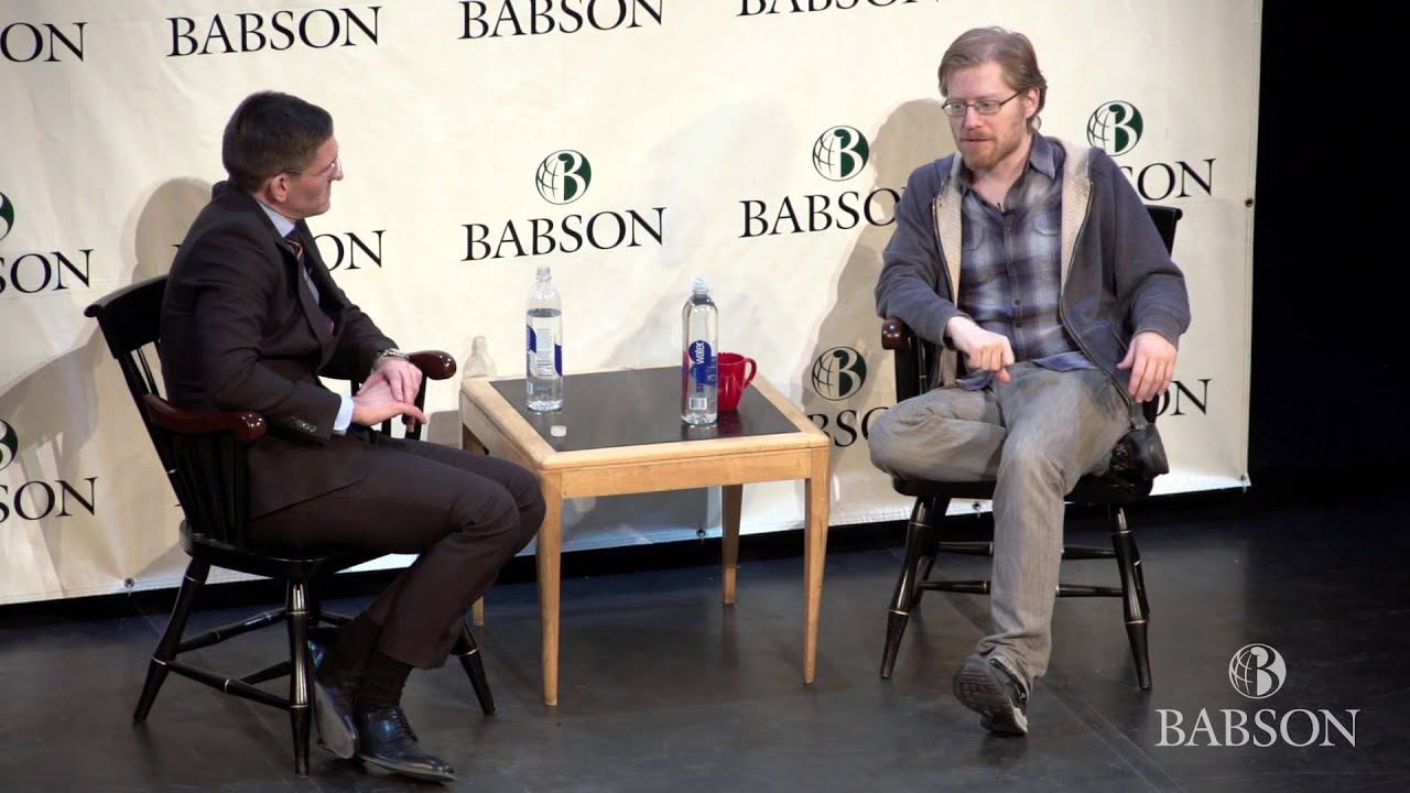 babson college hosts rent star anthony rapp for a q a session