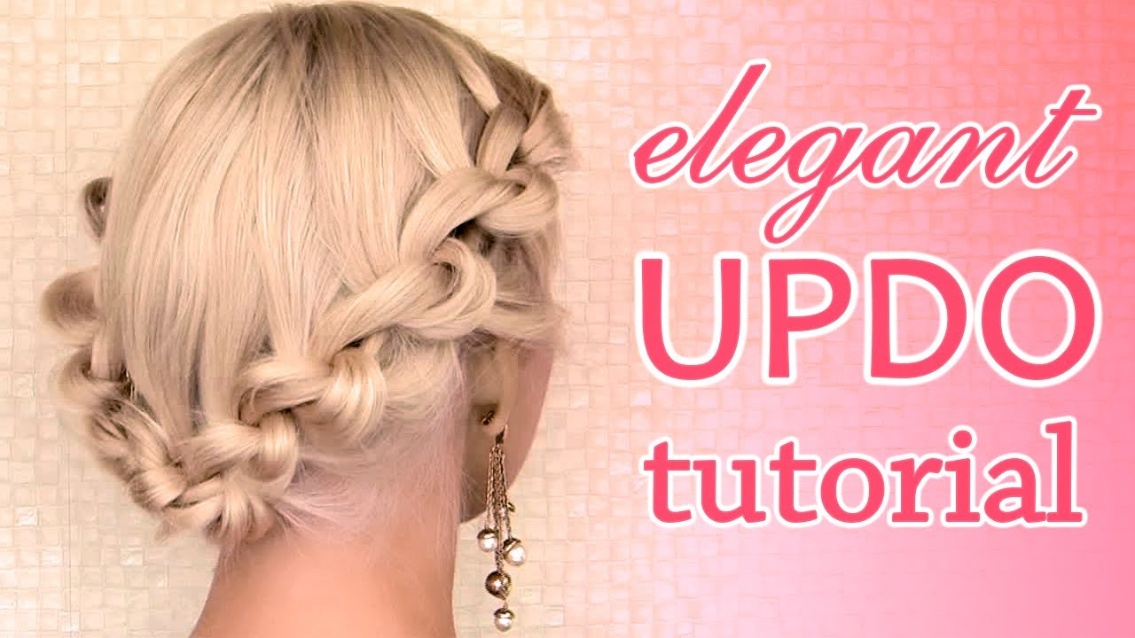 Knotted Updo Hairstyle Promwedding Hair Tutorial For Mediumlong