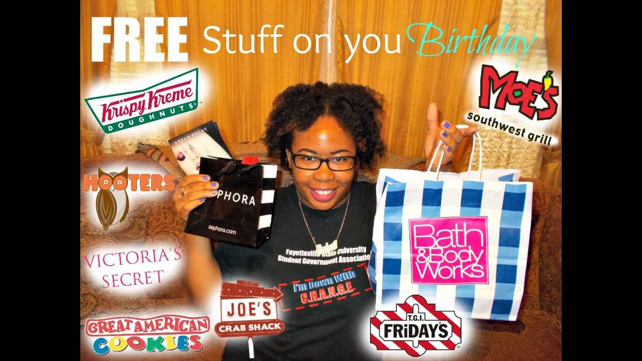 How To Get Free Stuff on Your Birthday!! - YouTube