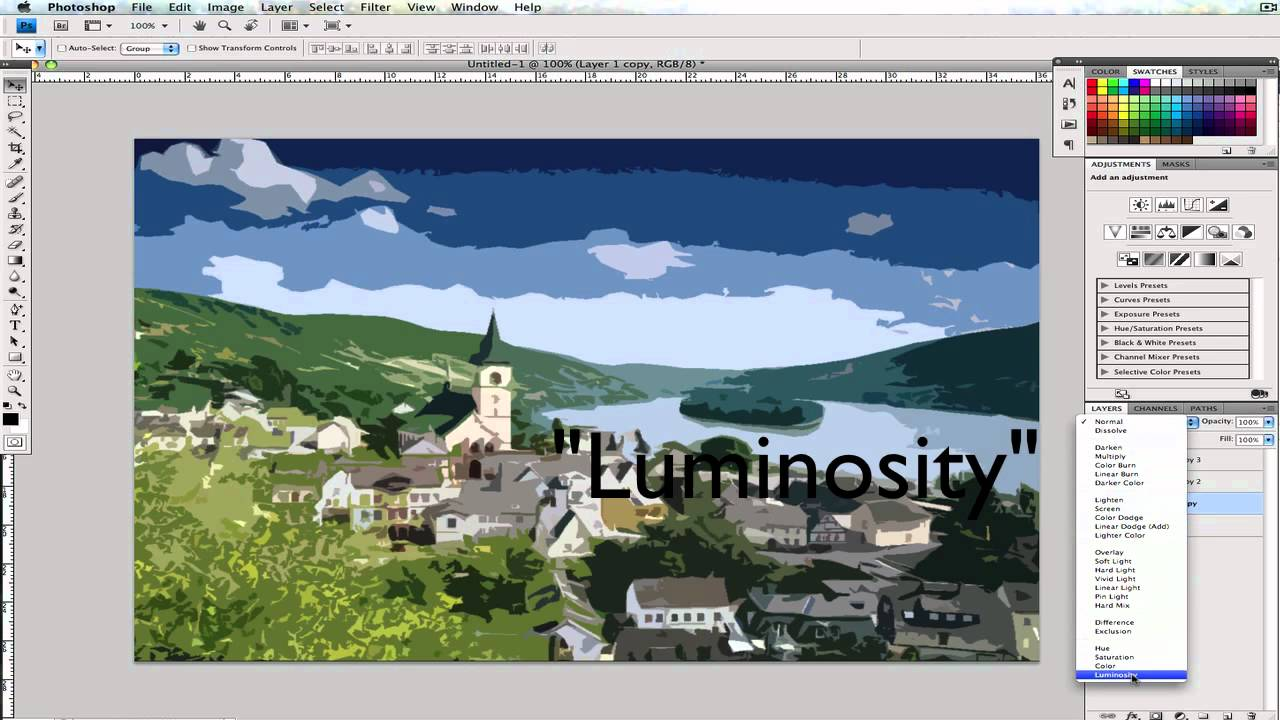 How to make a picture look like a Water Color Painting in Photoshop