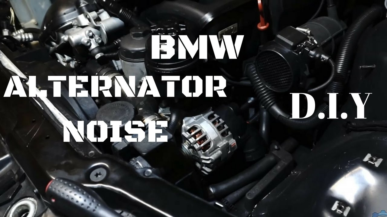 Alternator whistling,whining noise diagnosis,ripple,diode pack test in BMW  e46 M54 320,325,330