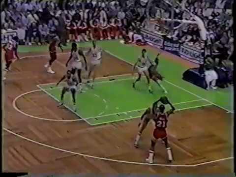 Cavs highlights gm1 vs Celtics 1985 playoffs