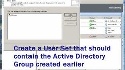 How to create an internet access rule for a group of users