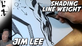 Jim Lee Demonstrating Line Weight and Shading
