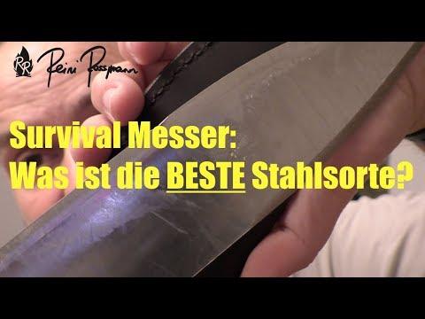 Survival Messer: Was ist die BESTE Stahlsorte?