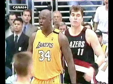 L.A Lakers - Portland - Game 1 Finale Conference 2000 - VF George Eddy