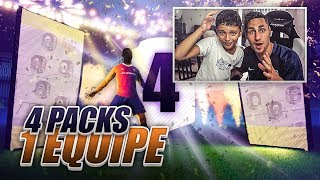 4 PACKS UNE EQUIPE - UN ENORME PACK !!! FIFA 18 CHALLENGE