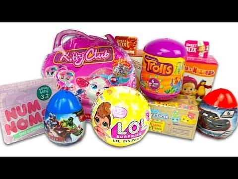 Сюрпризы и игрушки для детей. Распаковываем яйца и ЛОЛ пэтс