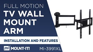 Mount-It! MI-3991XL Wall Mount Bracket Installation, How to Install Your TV on the Wall