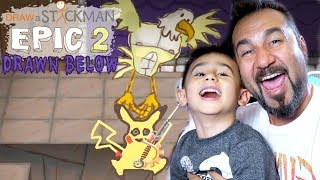UÇUR BİZİ KARTALIM! | Draw a Stickman: EPIC 2 DLC Drawn Below #4