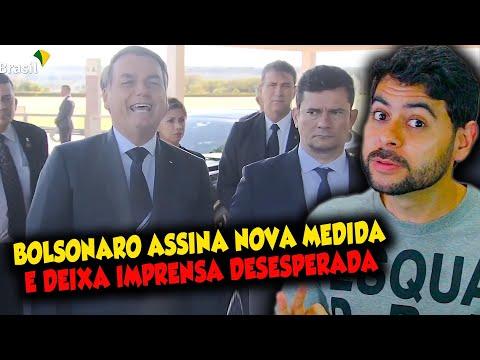 Bolsonaro assina nova medida e deixa imprensa desesperada