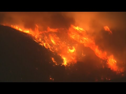 A Look From Above The Raging Saddleridge Fire In Southern California