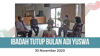 Ibadah Tutup Bulan Adi Yuswa GKJW Jemaat Sidoarjo 30 November 2020