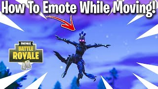 How to emote while moving/gliding