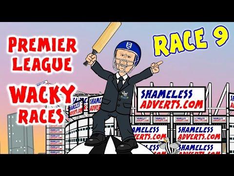 RACE 9 Premier League Wacky Races (Sterling Hattrick Newcastle 6-2 Norwich Highlights)