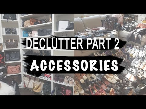 Cleaning Out My Accessories (KonMari Pt2) | Declutter Vlog