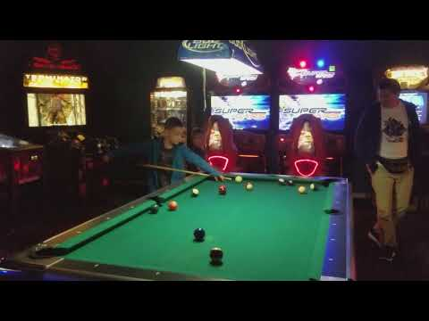 5 year old Ayden trying to learn to play pool