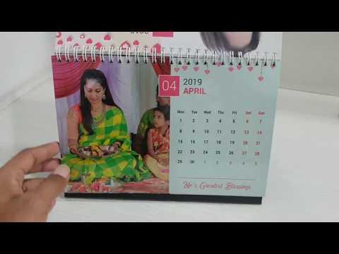 Picsy Personalized Calendar | Desk Photo Calendar 2019