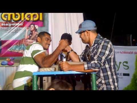 chalakudy  arun & 18 time world champion shaju arm wrestling...