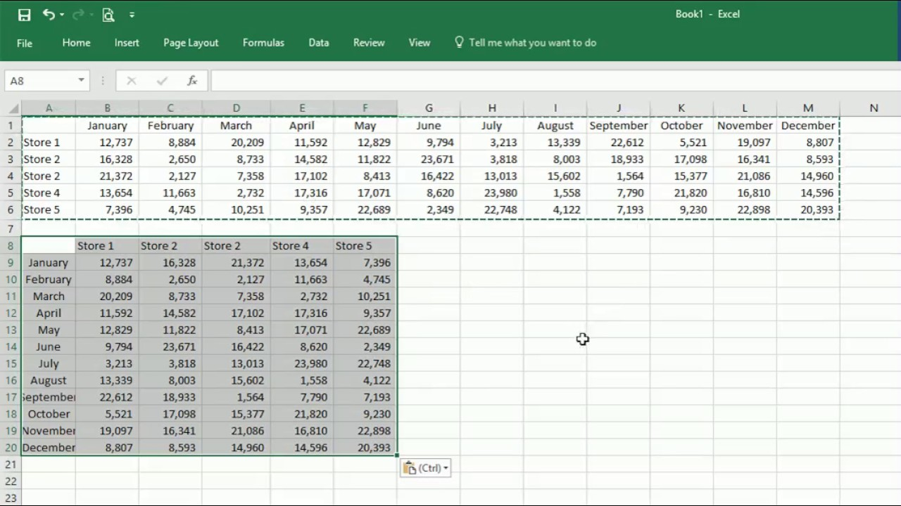 Switch Excel Columns & Rows | Productivity Portfolio