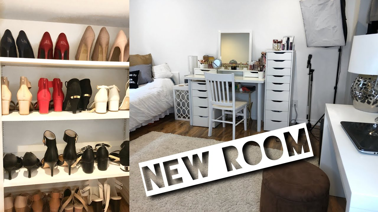 MOVING ROOMS Into The Basement | Setting Up My New Room | Rearranging My  Room + New Furniture
