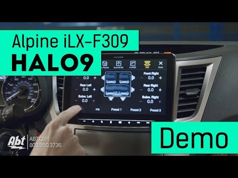 Alpine Halo 9 Floating Head Unit Demo/Overview - iLX F309