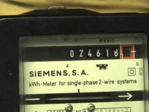 Siemens Kwh Meter And A Fuji On 99995 Youtube