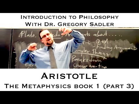 Intro to Philosophy: Aristotle, Metaphysics (selections)