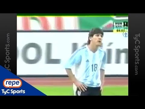Messi, debut y expulsión