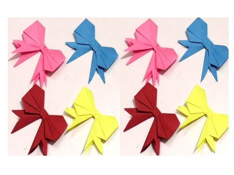 Gift Box Decoration | DIY Easy  paper Bow gift wrap| how to gift wrap