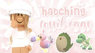 roblox: Hatching 20 Fossil Eggs! (spent all my money 😭) | grace k ✧