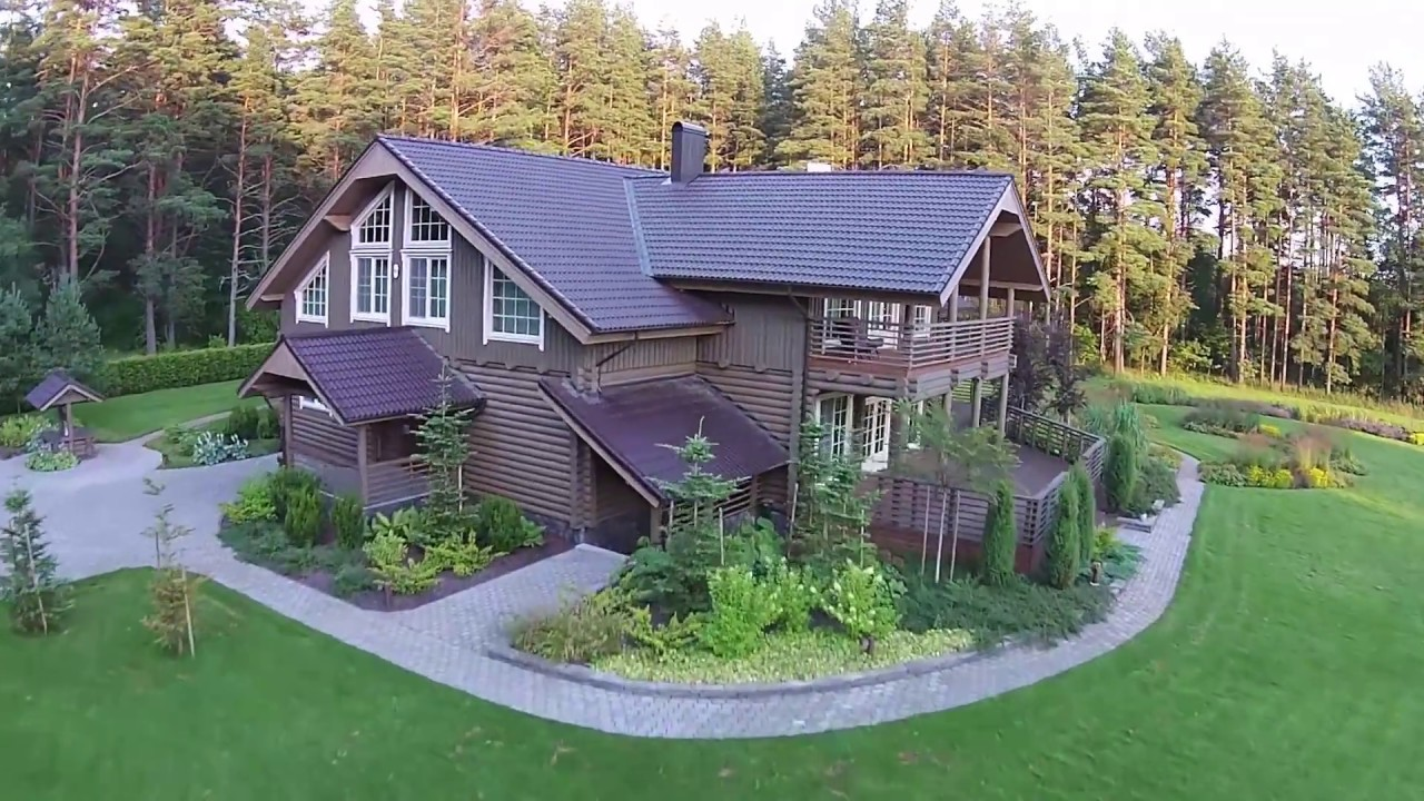 Estonian wooden house production technology and references