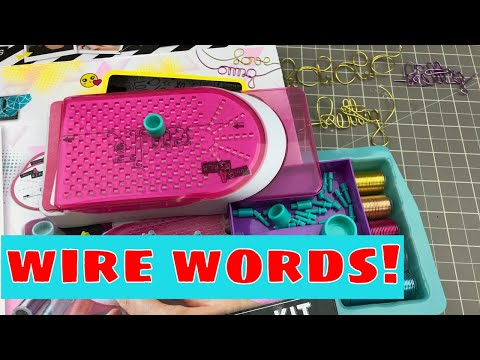 Making Wire Words with a Kids Jewelry Kit!