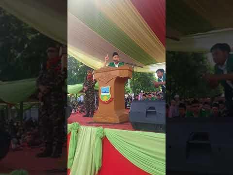 Orasi Kebangsaan dan Motivasi Kader oleh ketua cabang PC Ansor Garut Dr.R Abdullah Badar,M.Si