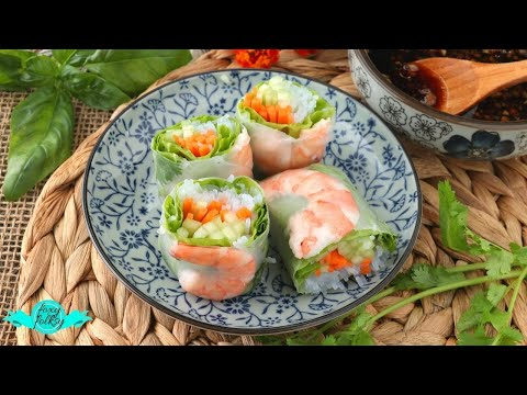 How to make Refreshing and Healthy VIETNAMESE SPRING ROLLS | FOXY FOLKSY Recipes