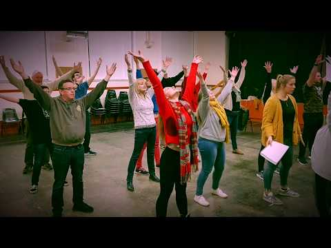 Long Eaton Operatic Society Whistle down the Wind rehearsal video