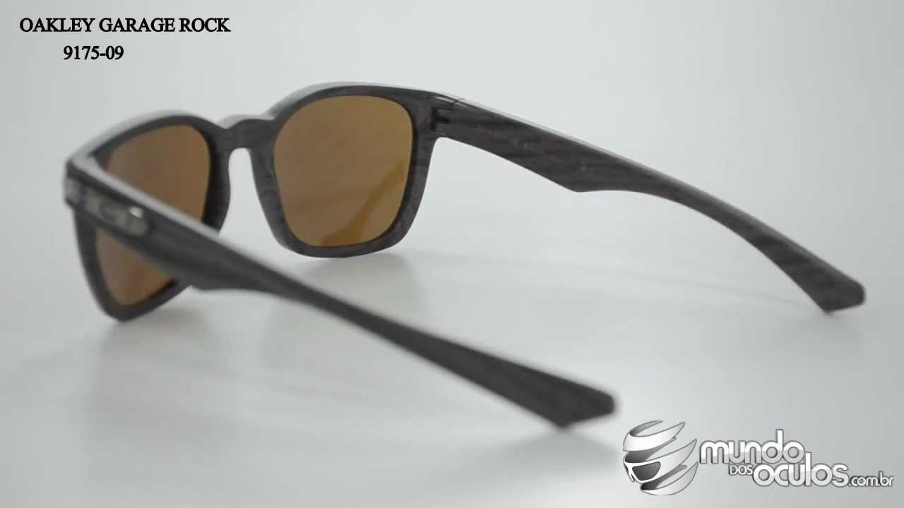 ccd96330664 Oakley Garage Rock Polarizado - 9175-09 - YouTube
