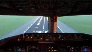 KLM Boeing 777 Cockpit landing @ Schiphol AMS Airport (36R)