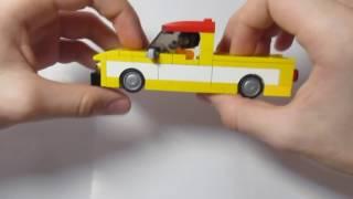 Сборка пляжного пикапа из LEGO! КС№3///LEGO 4-wide MOC: Pickup truck building instructions!