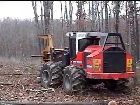 Me on the Prentice 2670 Timber Feller Buncher