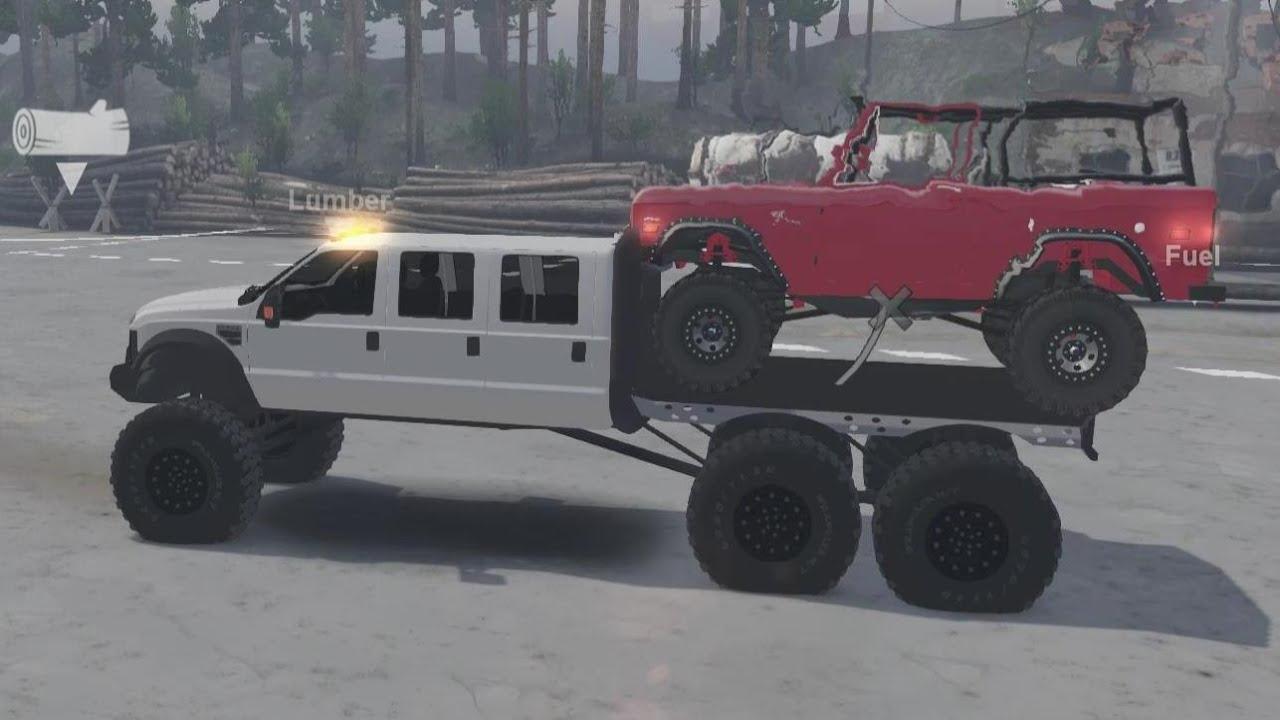 Diesel Brothers Mega Ram >> Spintires Mods - Diesel Brothers Super Six Towing Rock ...