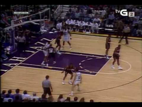 Karl Malone vs. Blazers full game highlights from 92-93