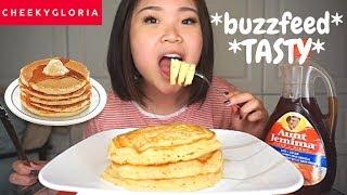 Buttermilk Pancakes Breakfast Mukbang | Buzzfeed Fluffliest Pancake Recipe Tested