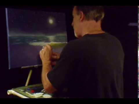 Florida Moonlight Beach Chairs under Plam Trees Volume 24 Lesson# 439